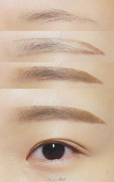 New makeup korean eyebrows straight brows ideas Makeup Korean Style, Korean Makeup Tips, Asian Eye Makeup, Korean Makeup Tutorials, Eyebrow Makeup, Makeup Eyeshadow, Makeup Eyebrows, Makeup Style, Art Tutorials