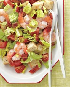 Shrimp Club Salad - try this salad bursting with flavor (and the cover of our June issue!)