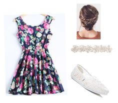 """""""Floral formal"""" by michellelovesclothes ❤ liked on Polyvore featuring TOMS"""
