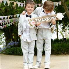 Cute pageboy outfits. Justine Cullen's wedding #LifeStyled #PaulaJoye