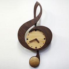 Rakuten: pendulum clock new G clef walnut
