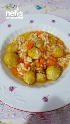 Zeytinyağlı Pirinçli Brüksel Lahanası Yemeği