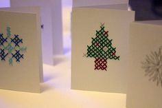 DIY Embroidered Christmas Cards - A guest post from Barnicles