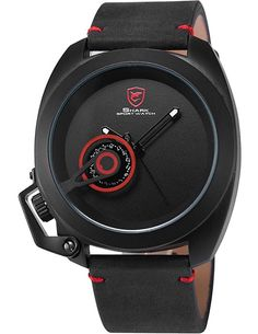 SHARK Men's Sport Wrist Watch Crazy Horse Leather Strap SH446