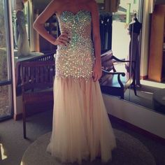229.00$  Buy here - http://viomt.justgood.pw/vig/item.php?t=p3moao44953 - Luxury Crystal Beading Evening Dresses Tulle Party Prom Cocktail Bridal Gowns