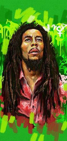 Bob Marley Painting, Bob Marley Art, Reggae Bob Marley, Image Bob Marley, Bob Marley Quotes, Reggae Art, Reggae Style, Graffiti Pictures, Black Art Pictures