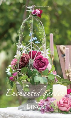 Shop our vintage-inspired wedding flowers, a vast collection of over 50 colors artificial flowers, real-looking and inexpensive. Great choice to complete your wedding DIY projects. Tall Floral Arrangements, Beautiful Flower Arrangements, Unique Flowers, Beautiful Flowers, Deco Floral, Floral Design, Tea Party Table, Foam Roses, Rose Leaves