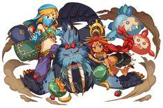 Tags: Fanart, Zelda no Densetsu, Pixiv, Link, Fanart From Pixiv, Zelda no Densetsu: Breath of the Wild, Link (Breath of the Wild), Pixiv Id 18454662, Riju (Breath Of The Wild)