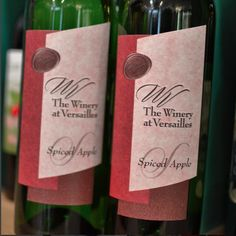 Spiced Apple Wine from the Winery at Versailles is made with locally grown apples and is perfect for fall and winter!