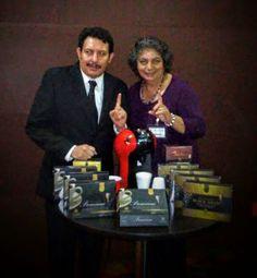 Mary Servin mi Patrocinadora Y servidor Enrique Haas Promocionando el Café Saludable Organo Gold En Casino EMOTION de Pto. Vallarta Jal, Méx.
