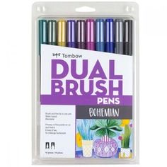 Purchase the Tombow Dual Brush Pens, Bohemian at Michaels. Create stunning bohemian paintings to display in your living room with these dual brush pens from Tombow. Brush Pen Art, Tombow Dual Brush Pen, Tombow Markers, Bohemian Painting, Blender Pen, Brush Markers, Spirograph, Marker Art, Pen Sets