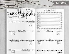 Printable Planner Bullet Tageserfassung von HappyDigitalDownload