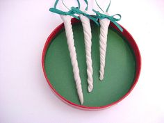 Cyber Monday Etsy3 Icicle Christmas tree by DarriellesClayArt, $18.00