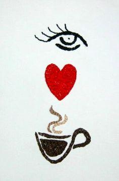 ☕ Coffee ♥ Craft ☕ Coffee cup art