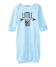 Love this Baby Blue 'Little Bro' Gown - Infant on #zulily! #zulilyfinds