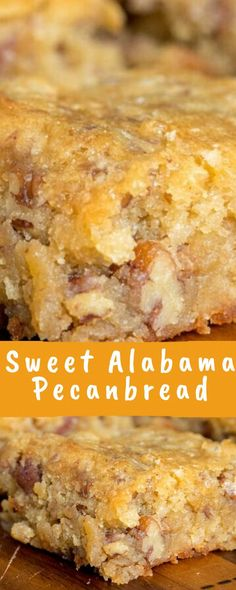 Sweet Alabama Pecanbread Recipe - Health Desserts - When the mood to bake strikes you and you're wondering what you should whip up, don't fall bac - Bread Recipes, Baking Recipes, Cake Recipes, Dessert Recipes, Breakfast Recipes, Food Cakes, Cupcake Cakes, Cupcakes, Dessert Bars