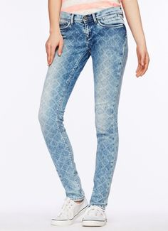 Buy print skinny fit jeans | Pepe Jeans London