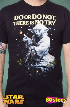 Star Wars There Is No Try T-Shirt: Star Wars Mens T-Shirt