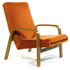 Joseph-André Motte; Ash Lounge Chair for Steiner, 1950s.