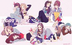 "Girls Generation SNSD ""I Got A Boy"" Anime"