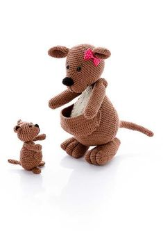 Amigurumi Parent and Baby Animals Crochet Pattern Kangaroo
