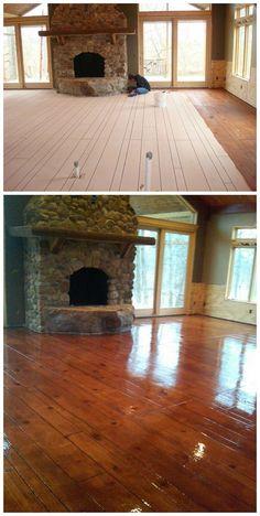 Faux Concrete Wood Staining Resurfacing Flooring Mesa AZ