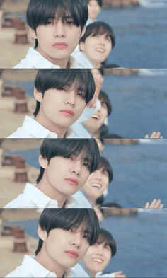 V is having a moment, because he is supposed to be up there and not Jin