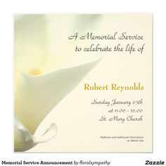 Memorial Service Invitation Wording 39 Best Funeral Reception Invitations  Pinterest  Reception .