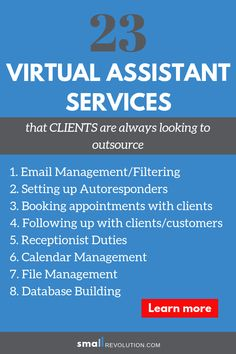 Are looking for ways to make more money as a Virtual Assistant? Check out these 23 tasks that clients are always looking to outsource. Virtual Jobs, Virtual Assistant Services, Earn More Money, Earn Money From Home, Work From Home Tips, Starting Your Own Business, Online Work, Business Planning, Online Business