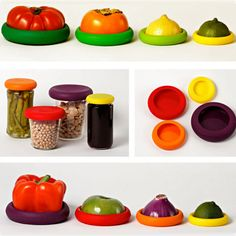 4Pcs/ Set Silicone Food Covers Food Cuddlers And Food Huggers Helps Your Foods And Fruits Keep Safely Kitchen Accessories