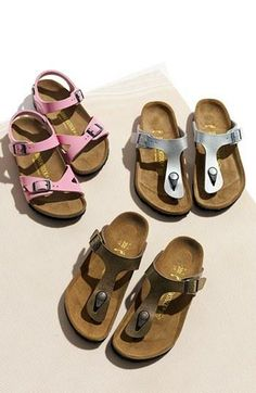 Birkenstock sandals for the kiddies Sock Shoes, Cute Shoes, Me Too Shoes, Shoe Boots, Shoe Bag, Huarache, Tory Burch, Birkenstock Sandals, All About Shoes