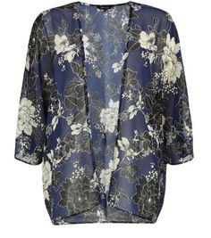 Navy Floral Print Kimono - need this is my life