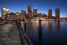 Downtown Boston from Harborwalk by Alxdrpln City and Architecture Photography #InfluentialLime