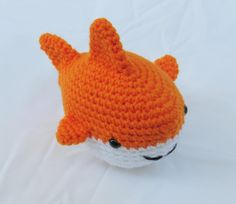 This+adorable+amigurumi+shark+is+perfect+for+kids+or+the+shark+or+sea+creature+lover!+It+would+even+be+the+perfect+gift+for+a+nautical+themed+nursery+or+someone+who+loves+Shark+week!+  It+measures+6+inches+long,+5+inches+wide,+and+4+1/2+inches+tall.+   If+you+would+like+this+in+other+colors+...