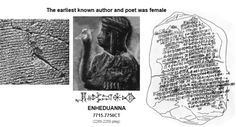 Enheduanna 7715-7750CT earliest known author was female