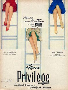 Privilège (Stockings) 1960 Charles Jourdan, Louis Féraud