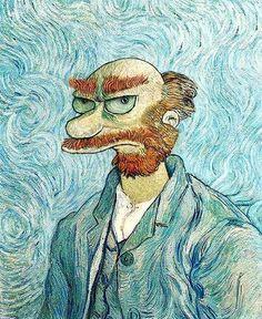 """Van Gogh VS. Simpsons""  Artist: David Barton"