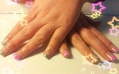 UV Gel builder glitter tips