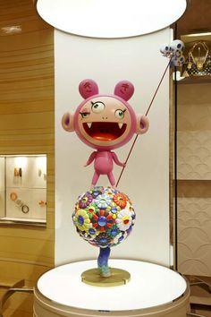 Sculpture by Takashi Murakami at Louis Vuitton Flagship store at Bond Street