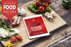 "Food iPad Mini Mockup ""A"" - Mocup 