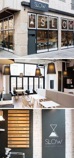 29 Ideas for vintage cafe interior modern Bakery Interior, Restaurant Interior Design, Shop Interior Design, Commercial Design, Commercial Interiors, Café Branding, Café Design, Cafe Shop Design, Modern Cafe