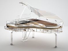 The Crystal Edition, by Blüthner #pianos. http://www.total-piano-care.com/bluthner-pianos.html