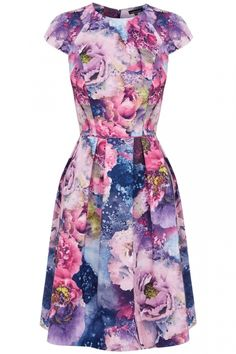 Warehouse Floral Pleated Dress, £55