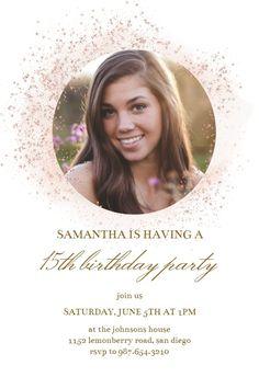 Blush Gold Spots - Birthday Invitation #invitations #printable #diy #template #birthday #party