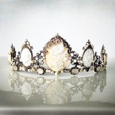 SALE  Drusilla White tiara  Gothic headpiece by AncaPeelma on Etsy, $450.00