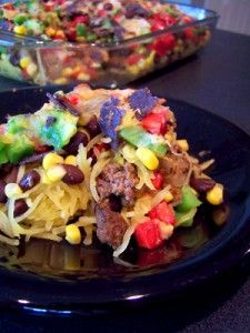 7 Layer Mexican Casserole....Sounds better/healthier than tacos. Especially because it would be easier to eat leftovers of this than it is to eat taco leftovers.