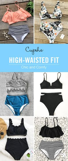 Time to have some fun in the sun~ High-waisted design offers perfect fit and super comfort! You will love them at the first touch~ FREE shipping~ Shop now!