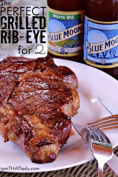 The PERFECT Grilled Ribeye for 2!