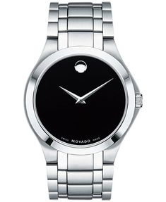 Image 1 of Movado Men's Swiss Collection Stainless Steel Bracelet Watch 40mm