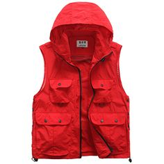 Outdoor Quick Dry Photograpohy Casual Hooded Mutil Pockets Vest for Men on Sale-NewChic Mobile.